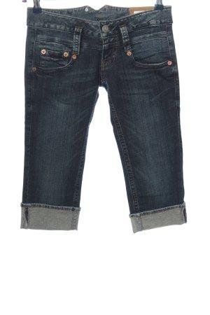 Herrlicher 3/4-jeans blauw casual uitstraling