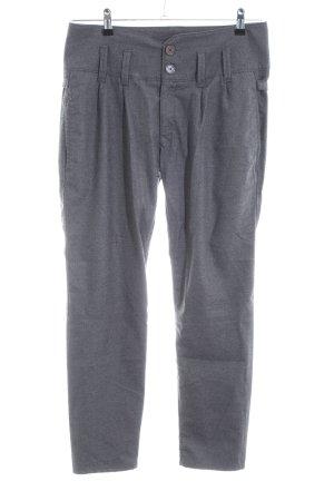 Herrlicher Pantalon «Baggy» gris clair moucheté style décontracté