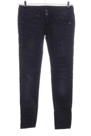Herrlicher Jeans da motociclista nero stile casual
