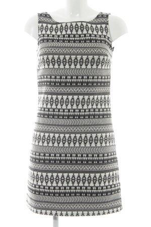Herrlicher Bleistiftkleid schwarz-weiß Mustermix Elegant