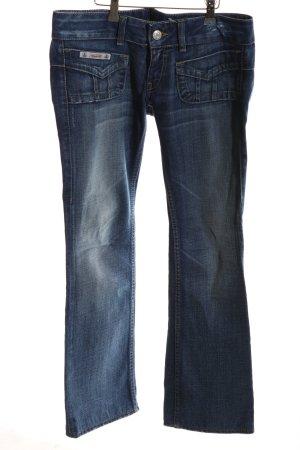 Herrlicher Boot Cut Jeans blau Casual-Look