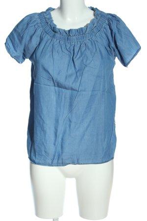 Herrlicher Carmen-Bluse blau Casual-Look