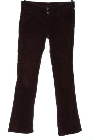 Herrlicher Pantalone di velluto a coste rosso stile casual