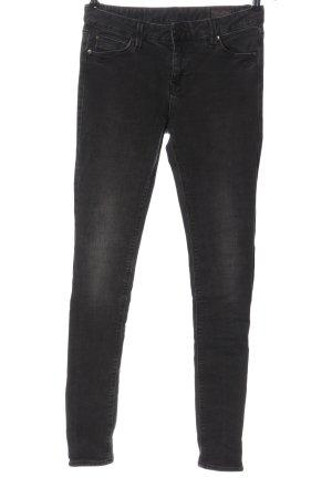 Herrlicher Dopasowane jeansy czarny W stylu casual