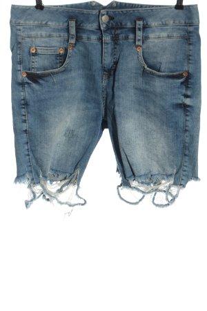 Herrlicher Jeansowe szorty niebieski W stylu casual