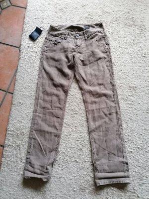 Herrlicher Pantalone chino marrone chiaro