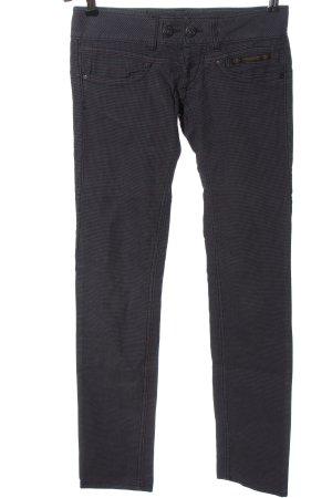 Herrlicher Pantalone a vita bassa blu-nero stampa integrale stile casual