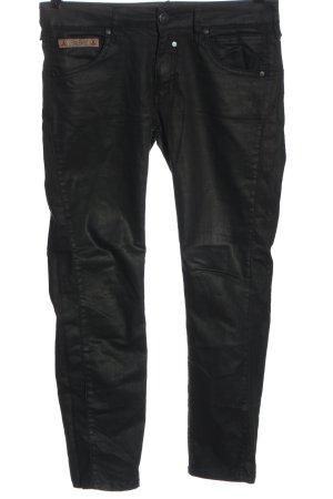 Herrlicher Pantalone a vita bassa nero stile casual
