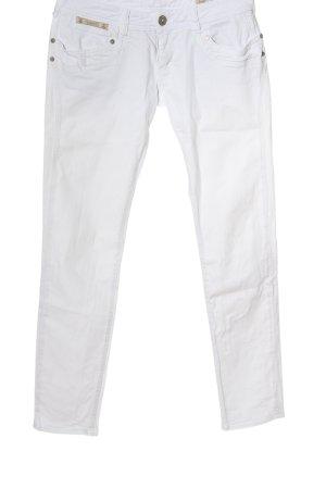 Herrlicher Jeansy biodrówki biały W stylu casual