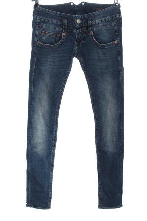 Herrlicher Jeans vita bassa blu stile casual