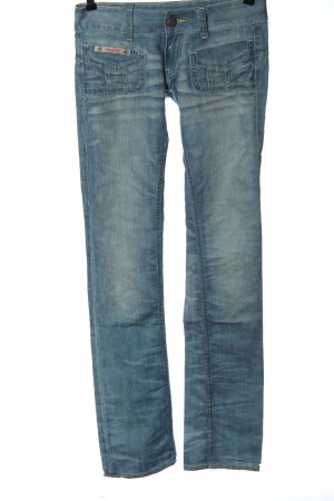 Herrlicher Jeans vita bassa blu Tessuto misto