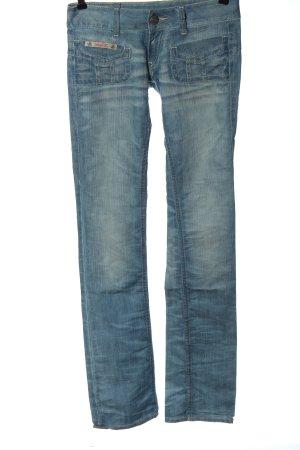 Herrlicher Jeansy biodrówki niebieski W stylu casual