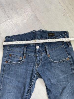 Blaustoff Herrlicher Low Rise Jeans azure