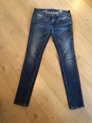Blaustoff Herrlicher Jeans met rechte pijpen blauw