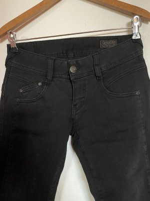 Herrlicher pantalón de cintura baja negro