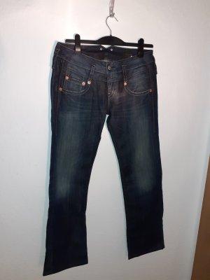 Herrlicher Spodnie biodrówki niebieski