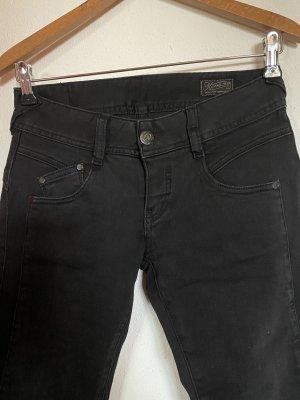Herrlicher Pantalone a vita bassa nero