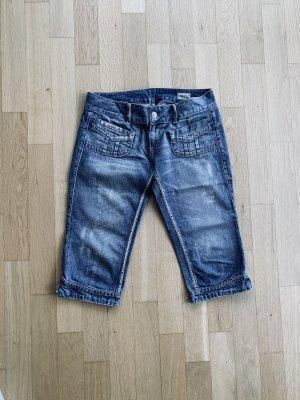 Herrlicher Short en jean bleu acier-bleuet