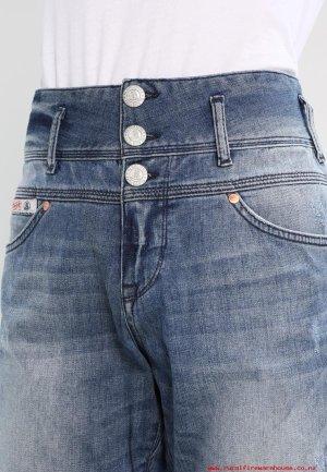 Herrlicher Jeans coupe-droite bleu