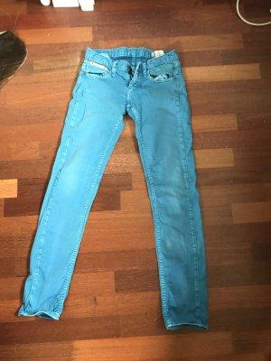 Blaustoff Herrlicher Straight Leg Jeans light blue-neon blue
