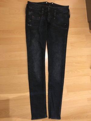 Herrlicher Boyfriend Trousers dark blue cotton