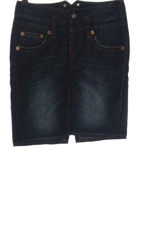 Herrlicher Gonna di jeans blu stile casual