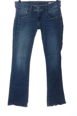 Herrlicher Jeansschlaghose blau Casual-Look