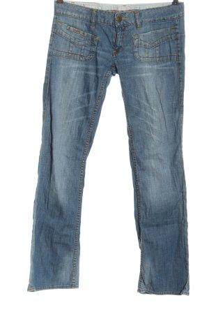 Herrlicher Jeans a zampa d'elefante blu stile casual