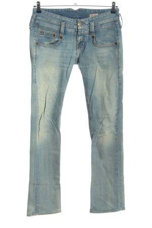 Herrlicher Jeansowe spodnie dzwony niebieski W stylu casual