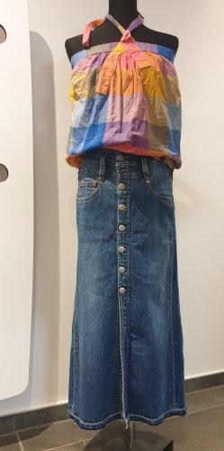 Herrlicher Jeansowa spódnica niebieski