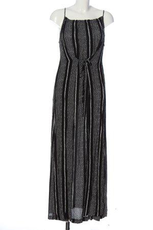 Herrlicher Robe longue noir-blanc motif rayé style décontracté
