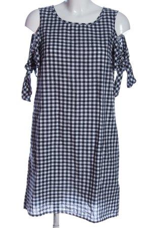 Herrlicher Minikleid schwarz-weiß Allover-Druck Casual-Look