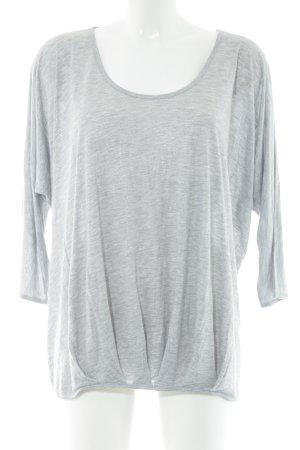 Herrlicher Oversized Shirt hellgrau meliert Casual-Look