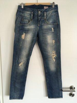 Blaustoff Herrlicher Boyfriend jeans staalblauw-azuur Katoen