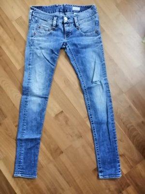 Herrlicher Jeans slim fit blu fiordaliso Cotone