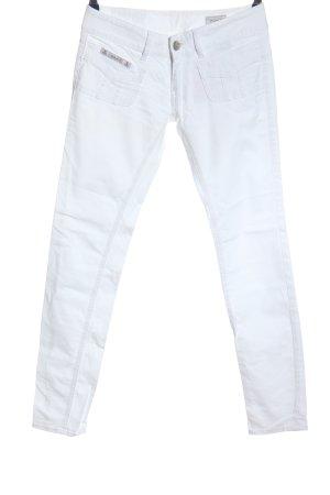 Herrlicher Spodnie rurki biały W stylu casual