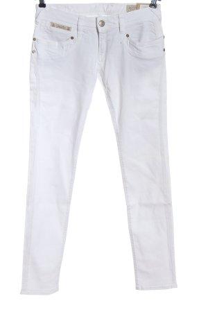 Herrlicher Jeans cigarette blanc style décontracté