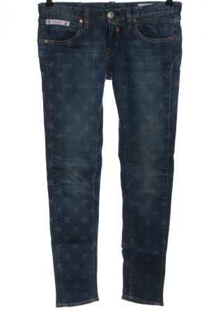 Herrlicher Jeansy rurki niebieski Na całej powierzchni W stylu casual