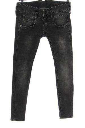 Herrlicher Jeans a sigaretta nero stile casual