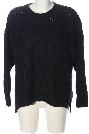 Herrlicher Sweter z okrągłym dekoltem czarny W stylu casual