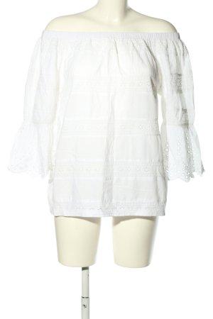 Herrlicher Bluzka przez głowę biały W stylu casual