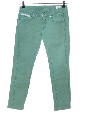 Herrlicher Skinny Jeans grün Casual-Look