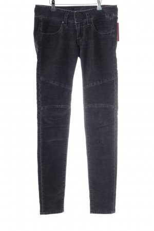 Herrlicher Jeansy o obcisłym kroju antracyt Aplikacja z logo
