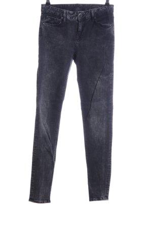 Herrlicher Jeansy o obcisłym kroju czarny-jasnoszary Melanżowy W stylu casual