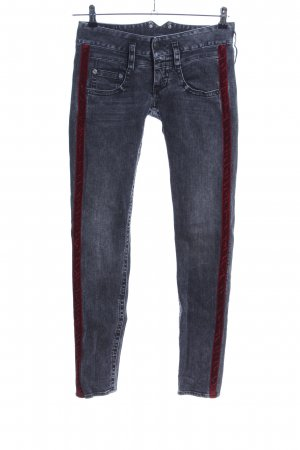 Herrlicher Slim Jeans blau-rot Casual-Look