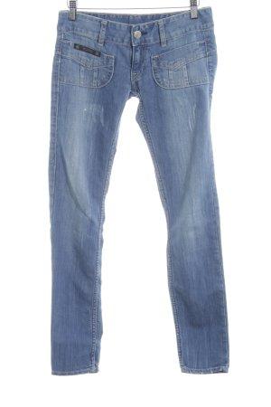 Herrlicher Slim Jeans kornblumenblau Used-Optik