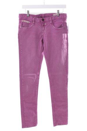 Herrlicher Slim Jeans violett Used-Optik