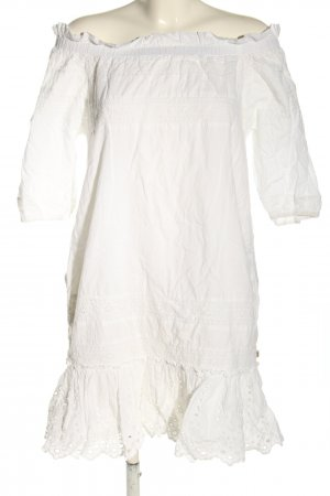 Herrlicher Koronkowa sukienka biały W stylu casual
