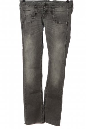Herrlicher Jeans coupe-droite gris clair style décontracté
