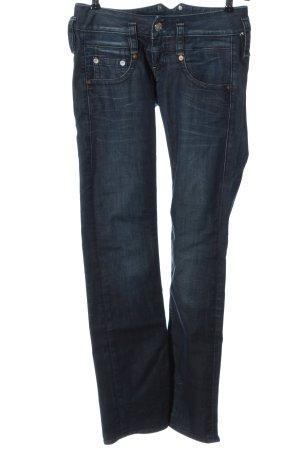 Herrlicher Jeans coupe-droite bleu style décontracté
